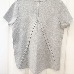 Witchery gray asymmetrical structured Shirt (M)